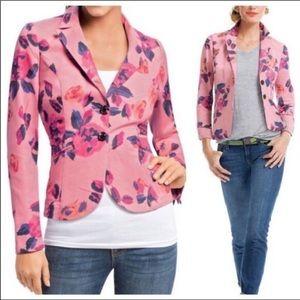 Cabi Floral Pink & Purple Blazer Spring Jacket 2